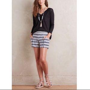 {Anthropologie} Cartonnier Ikat Shorts